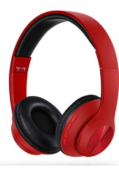 Tucci TC999 Kablosuz Kulaküstü Kulaklık Kırmızı