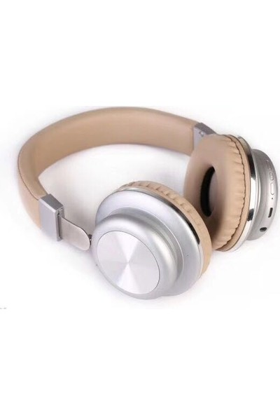 Glamshine GS-H6 Kablosuz Kulaküstü Kulaklık Altın - Beyaz