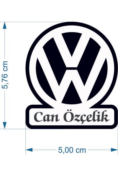 Umut Reklam Kişiye Özel Anahtarlık - Volkswagen (Çift Taraflı)