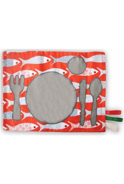 Kiduga Montessori Servis Altlığı Piranha Sofra Düzeni Öğretici & Özbakım