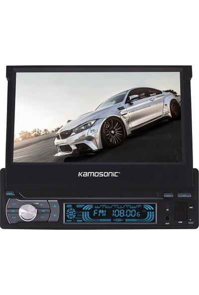 "Kamosonic Kamosonıc Ks-Bt704 Indash Oto Teyp 7"" Bluetooth -Fm-Sd Cart-Usb-4X40Watt -Kumandalı"
