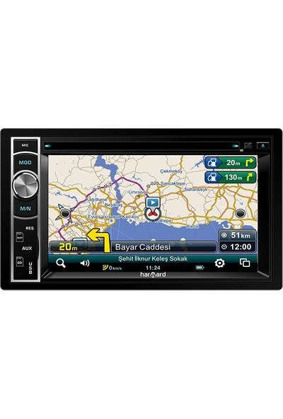 "Harward Hr-6202 6.2"" Double Oto Teyp 4X50Watt Bluetoothlu -Cd Özellikli -Navigasyonlu-Usb -Aux"