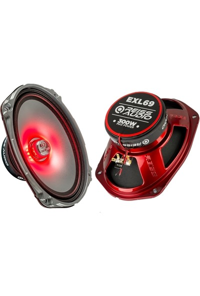 Reiss Audio Rs-Exl69 6X9 Midrange Max Power 300Watt Rms 100Watt 2 Adet