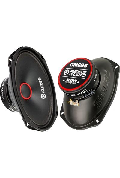 Reiss Audi̇o Oto Midrange Oval Hoparlör Rs-Gm69S 300W Max 6X9 2 Adet Takım