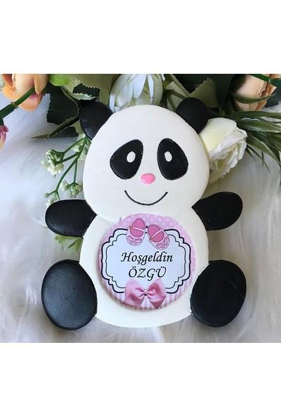 Buki'nin Atölyesi Kokulu Taş Panda Bebek Magneti (20 Adet)