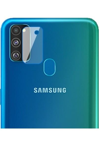 Ally Samsung Galaxy M30s Yüksek Çözünürlüklü Kamera Lens Koruma Camı AL-31047 Şeffaf