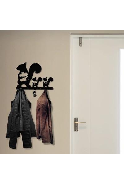 Bsign Metal Sincaplı Dekoratif Duvar Askısı Elbise Askılığı