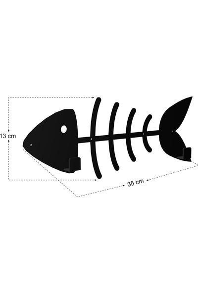 Bsign Askılık, Metal Balık Dekoratif Duvar Askısı, Elbise Askılığı