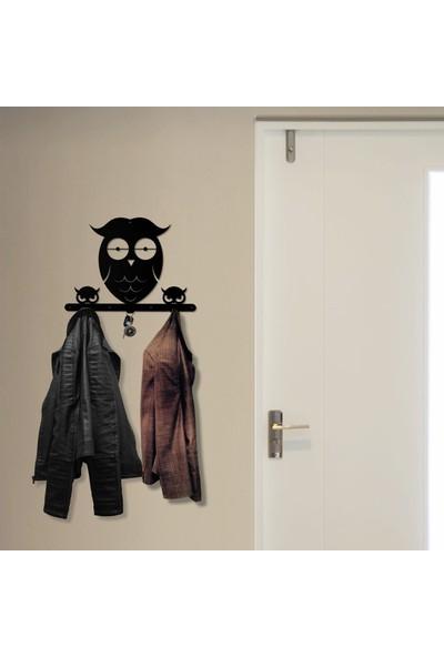 Bsign Metal Baykuş Dekoratif Duvar Askısı Elbise Askılığı