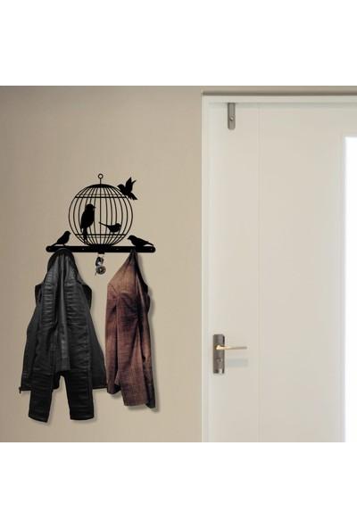 Bsign Metal Kuş Kafesi Dekoratif Duvar Askısı Elbise Askılığı