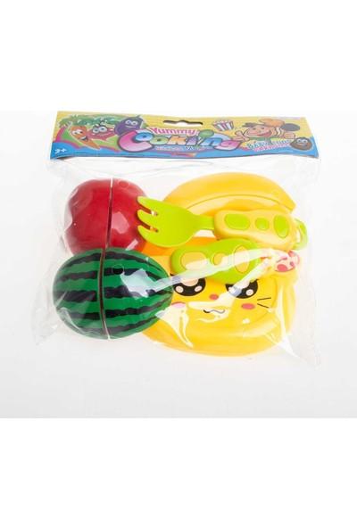 Karsan Hello Kitty Kesme Tahtalı Kesilebilen Oyuncak Meyve Seti 9 Parça