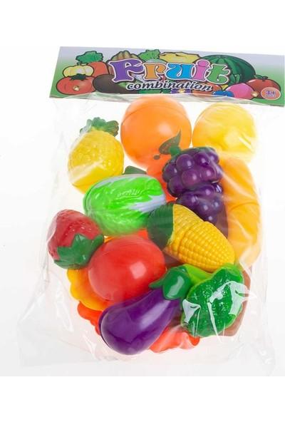 Karsan Kesme Tahtalı Kesilebilen Oyuncak Meyve Seti 28 Parça