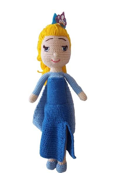 Özgüven Oto Giyim Amigurumi Organik Oyuncak Bebek Elsa Bebek