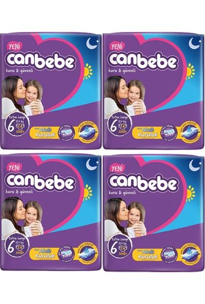 Canbebe Bebek Bezi 6 Beden Extra Large 24'lü x 4 Paket 96 Adet