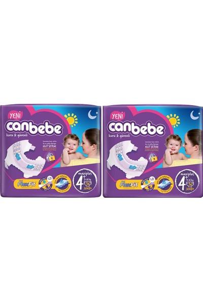 Canbebe Bebek Bezi 4+ Beden Maxi Plus 36'lı x 2 Paket 72 Adet