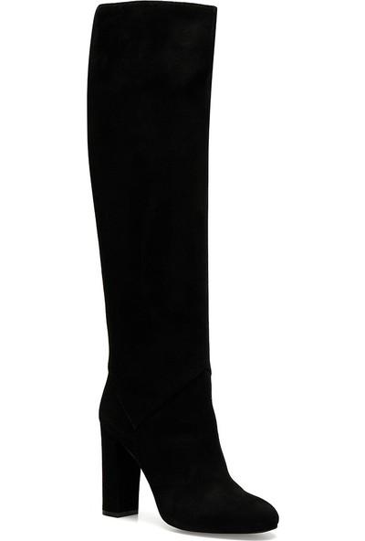 Nine West Xtra Siyah Kadın Ökçeli Çizme