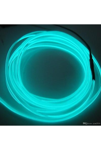 My Wory Araç İçi İp Neon Aydınlatma 12V Turkuaz 2 mt
