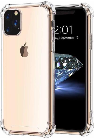 Case 4U Apple iPhone 11 Pro Kılıf Darbeye Dayanıklı Kenar Antishock Şeffaf