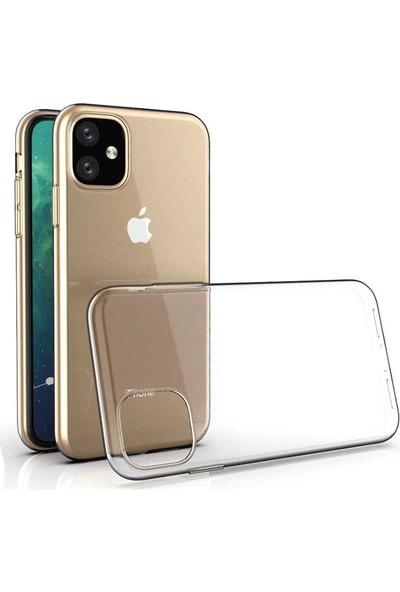 Case 4U Apple iPhone 11 Kılıf Süper Silikon Arka Kapak Şeffaf