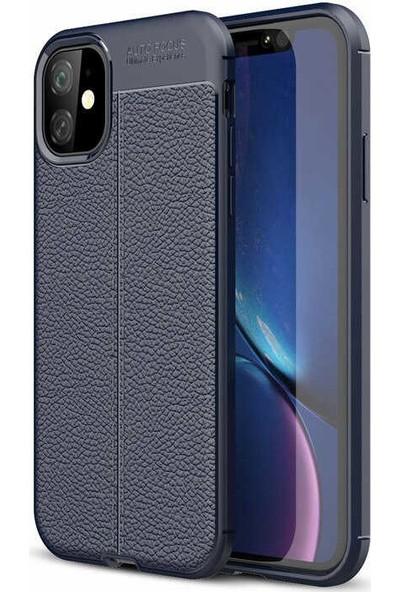 Case 4U Apple iPhone 11 Kılıf Darbeye Dayanıklı Niss Arka Kapak Lacivert