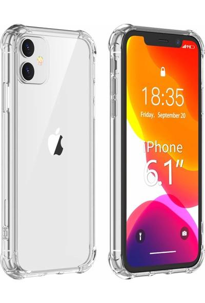 Case 4U Apple iPhone 11 Kılıf Darbeye Dayanıklı Kenar Antishock Şeffaf