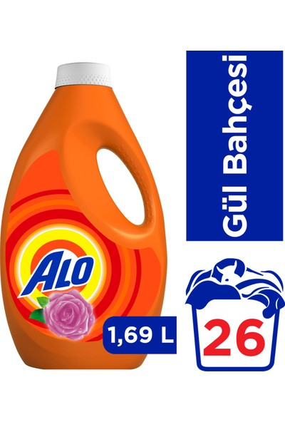 Alo 26 Yıkama Sıvı Çamaşır Deterjanıı Gül Bahçesi Beyazlar ve Renkliler İçin