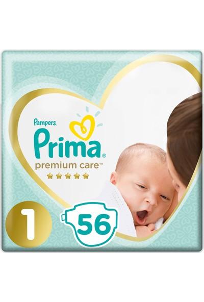 Prima Bebek Bezi Premium Care 1 Beden 56 Adet Yenidogan Ekonomi Paketi