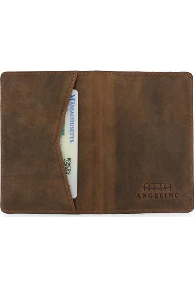Otto Angelino Gerçek Deri Business Kart ve Para Cüzdanı - Unisex