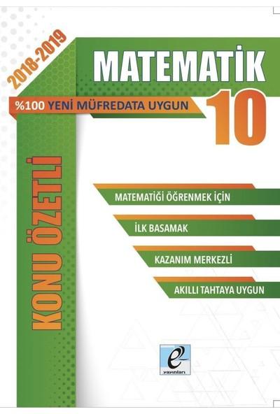 E-Kare 10. Sınıf Matematik Konu Özetli Soru Bankası Seti