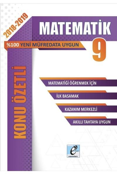 E-Kare 9. Sınıf Matematik Konu Özetli Soru Bankası Seti