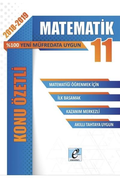 E-Kare 11. Sınıf Matematik Konu Özetli Soru Bankası Seti