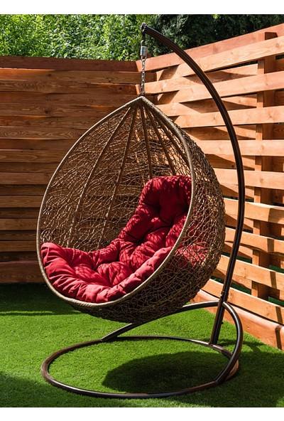 Euro Garden Rattan Askılı Bahçe Balkon Salıncağı Gloria (Asma)