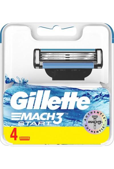 Gillette Mach3 Start Yedek Tıraş Bıçak 4'lü
