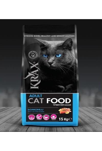 Krax Somonlu Yetişkin Kedi Maması 15 kg