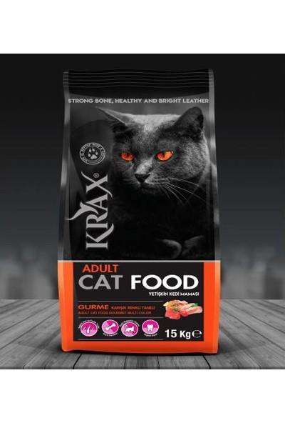 Krax Gurme Renkli Taneli Yetişkin Kedi Maması 15 kg