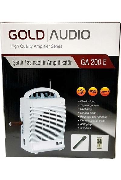 Gold Audio Kablosuz Mikrofon ve Taşınabilir Seyyar Çanta Anfi 50W