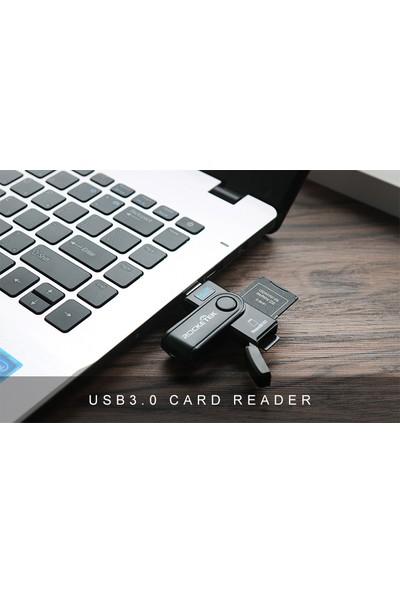 Rocketek 2 Kart Okuma Aynı Anda USB 3.0 Bellek Kart Okuyucu