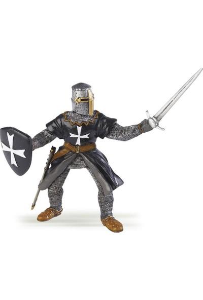Papo Siyah Haçlı Şövalye Figürü 39938