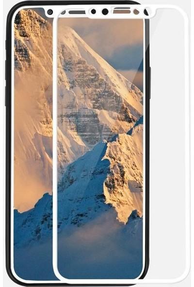 Kılıfist Apple iPhone X/XS 5D Full Ekran Koruyucu Komple 9H Temperli Cam Beyaz