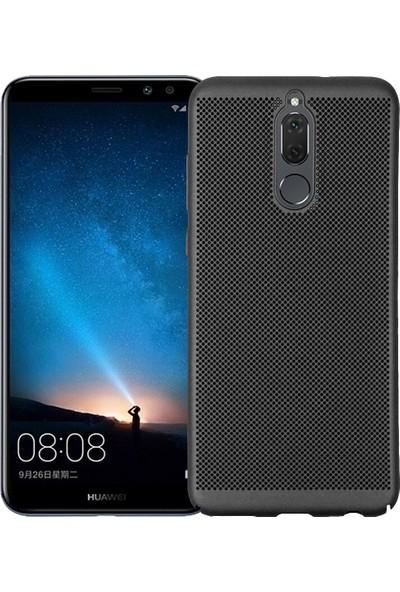 Kılıfist Huawei Mate 10 Lite Isı Dağılımlı Dot Kılıf Delikli Sert Kılıf Siyah