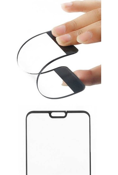 Kılıfist Huawei P Smart 3D Tam Kapatan Esnek Nano Cam Ekran Koruyucu Siyah