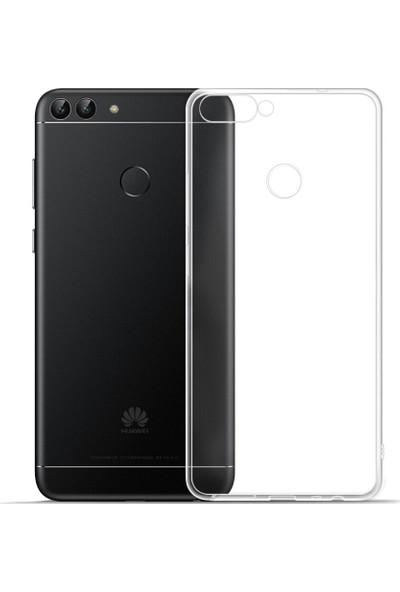 Kılıfist Huawei P Smart Kılıf Şeffaf Silikon Kılıf + Esnek Nano Cam Şeffaf
