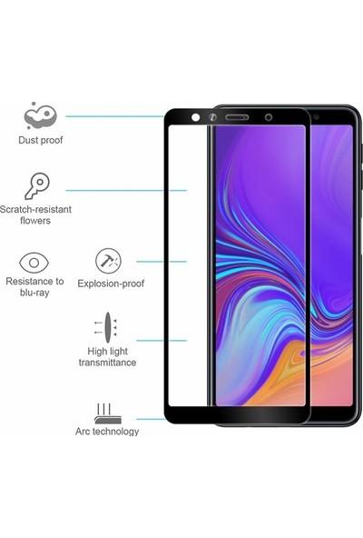Kılıfist Samsung Galaxy A9 2018 3D Tam Kapatan Esnek Nano Cam Ekran Koruyucu Siyah