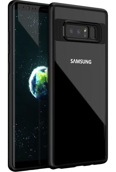Kılıfist Samsung Galaxy Note 8 Özel Tasarım Hibrit Çift Katmanlı Şık Koruma Kılıfı + Full Ekran Koruyucu Siyah