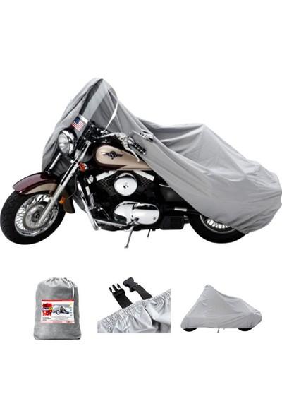 Motoen Suzuki Gn 250 Motosiklet Brandası (Bağlantı Tokalı) - Gri