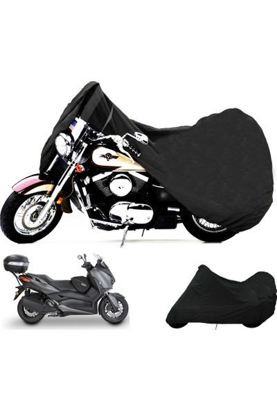 Motoen Kymco Venox 250 Arka Çanta Uyumlu Motosiklet Brandası (Bağlantı Tokalı)- Siyah