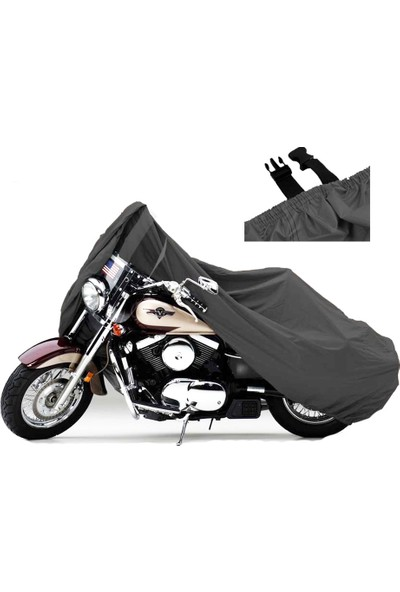 Motoen Gilera GP800 Motosiklet Brandası (Bağlantı Tokalı)- Siyah