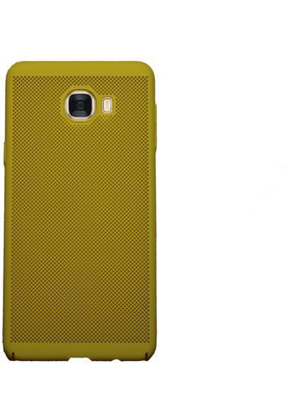 MarkaAvm Samsung Galaxy C7 Rubber Kılıf Sarı