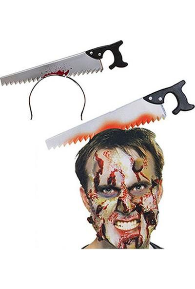 Kullan At Market Cadılar Bayramı-Halloween Kanlı Testere Taç