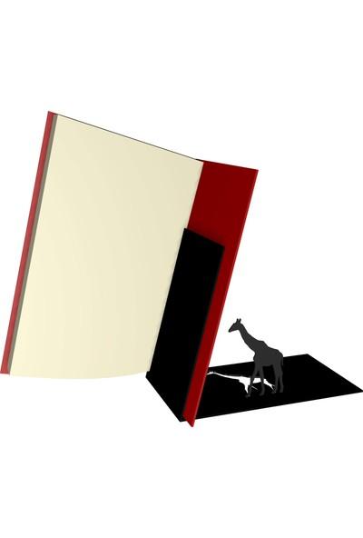 Bsign Kitaplık, Masa Veya Raf Için Dekoratif Zürafa Figürlü Kitaplık, Kitap Tutacağı